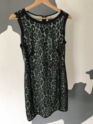 Mango Lace Dress black-turquoise