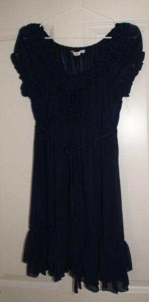 Kleid lila/dunkelblau New Look Größe 38