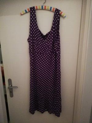 Kleid, lila mit weißen Pünktchen, Größe 42/44, inkl. Bolero