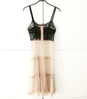 kleid / lingerie in nude schwarz