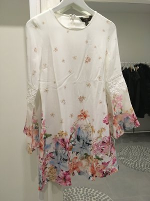 Kleid lipsy neu weiß bunt Blumen Blogger Sommer xs s 34 36 Fashion