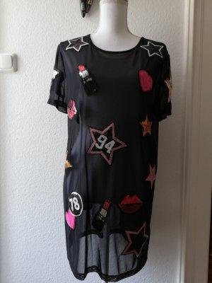 H&M Divided Vestido estilo camisa negro