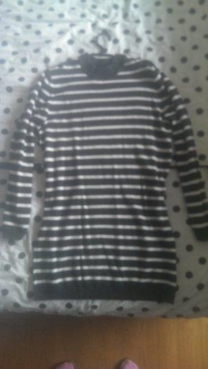 H&M Robe en laine blanc-gris anthracite