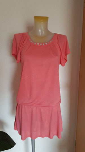 Lascana Robe de plage rose clair-rose