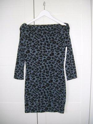 Kleid, Longshirt, Animalprint, blau-schwarz, Tally Weijl, Gr. S
