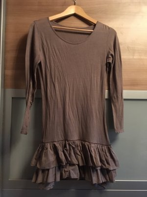 Camisa larga marrón claro