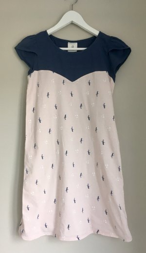 Vestido estilo camisa azul oscuro-rosa