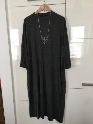Kleid Longshirt grau Größe L Monki