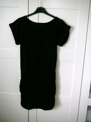 Kleid, Longshirt, kurzärmliges Shirt, schwarz, H&M, Gr. 36