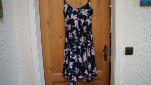 #Kleid m. #Blumenprint, Gr. #34, #schwarz-#bunt, #Neu, #Cheer