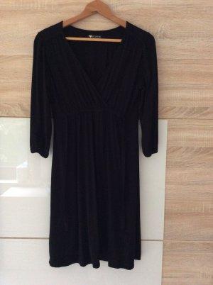 Robe portefeuille noir viscose