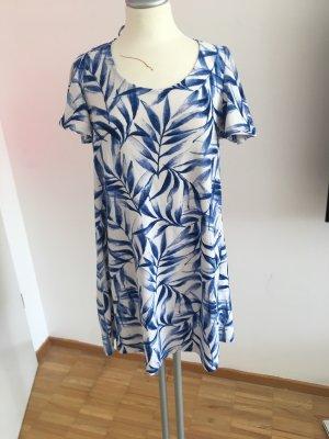 Mango Babydoll Dress white-blue