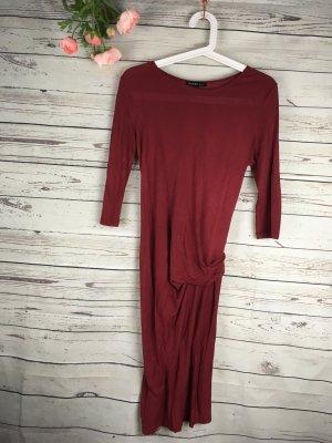 Kleid Mango Basic Chic Bordeaux Rot Gr. S