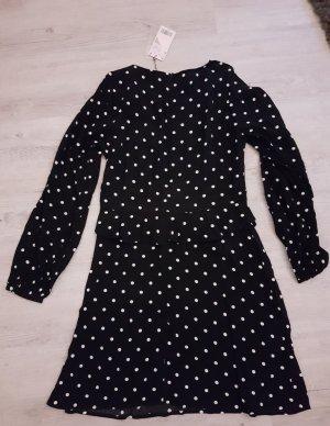 Kleid Mango Gr. S Schwarz mit weißen Punkten