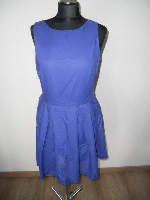 Kleid Mango Rückenausschnitt Blau Gr. M