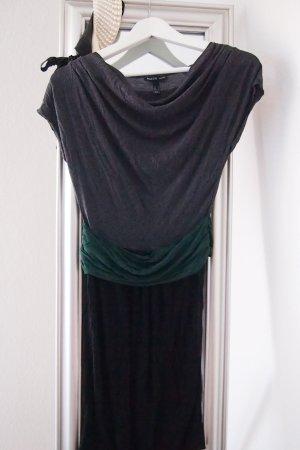 Kleid Mango Schärpe grau grün schwarz