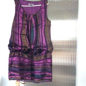 Kleid Mango Suit festlich Seide Dunkel-Lila Braun