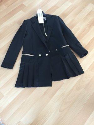Roberta Biagi Gabardina tipo vestido negro tejido mezclado