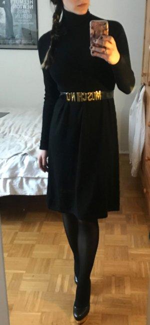 Kleid Marc O'Polo Gr S 36 Wolle Rollkragen Strick Schwarz Wollkleid wolle winter