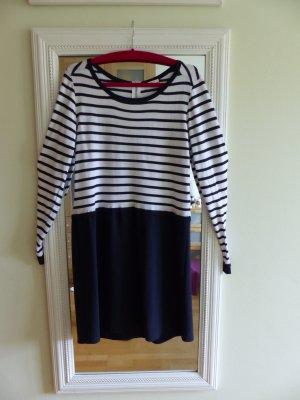 Kleid maritim von promod, Größe L, gestreift blau weiß