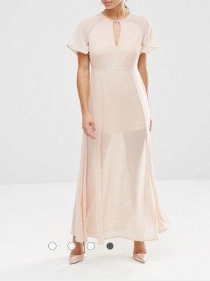 Kleid Maxi mit V - Ausschnitt Neu Gr.34/36