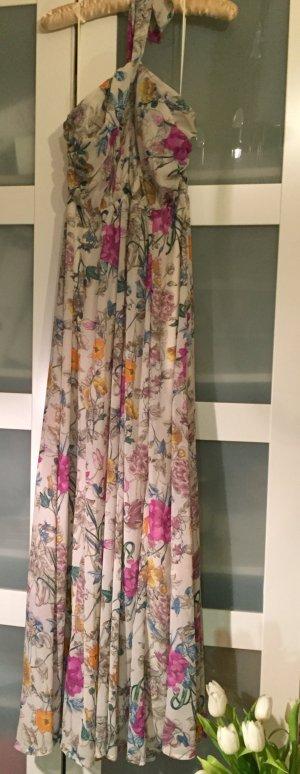 Kleid Maxikleid Blumen Hippie Neckholder