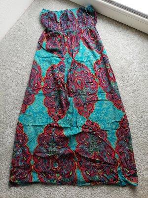 Angie Maxi-jurk donkerrood-blauw Viscose