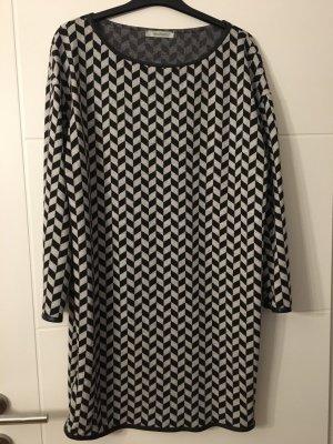 MaxMara Weekend Vestido de lana negro-color plata