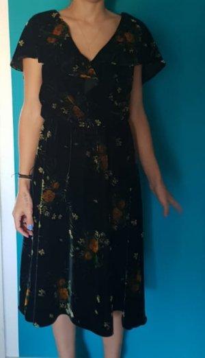 Kleid Middikleid Blumen Samt