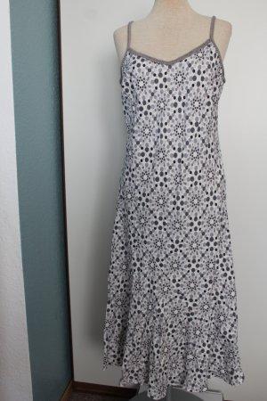 Kleid Midi Midikleid wadenlang 100% Baumwolle Gr. UK 14 EUR 42 Marcs&Spencer weiß Punkte