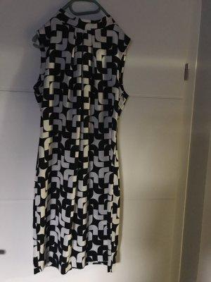Kleid / Midi / Sommer schwarz/weiß Gr. 36