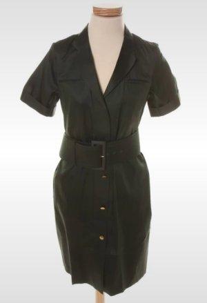 Kleid Midi von Celiné gr. 36 dunkelgrün mit Gürtel