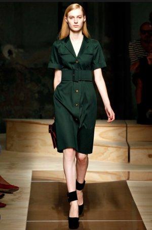 Celine Midi Dress dark green