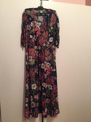 Kleid Midi Wickeloptik Blumen gr 40 H&M
