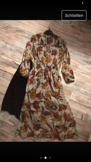 Zara Midi Dress grey brown-dark orange