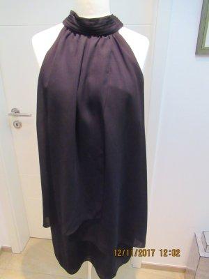 Kleid Minikleid Cocktailkleid Neckholderkleid aus leichtem Stoff in Schwarz von Zara in XL