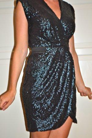 Kleid Minikleid Dunkelgrün von Warehouse gr. 32