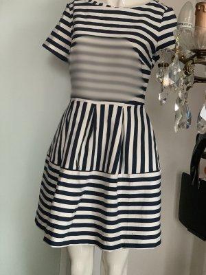 Reserved Empire Dress white-dark blue
