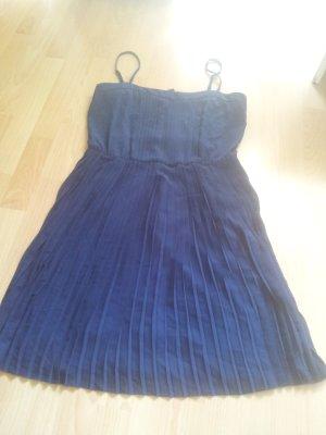 Kleid Minikleid Kleid Plissee dunkelblau mint & berry Gr. 42 NEU