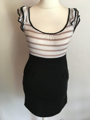 Kleid Minikleid Longshirt mit Bindegürtel Gr. S