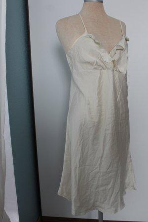 Kleid Minikleid Luxery Collection House of Fraser Seide L 40 UK 12 retro creme