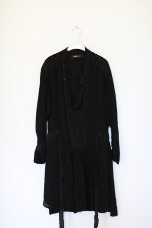 Kleid Minikleid Magali Pascal schwarz Seide Tunika Vintage Look