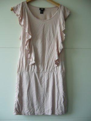 Kleid Minikleid Rüschen rosa H&M XS 34