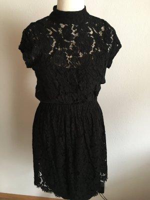 Kleid Minikleid schwarz mit Spitze Gr. M