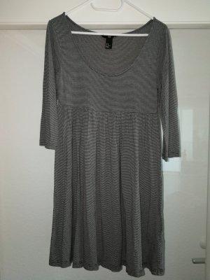 H&M Vestido estilo camisa blanco-negro Viscosa