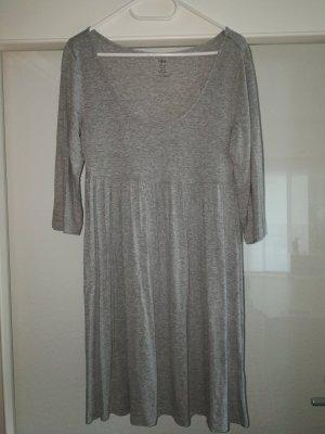H&M Vestido estilo camisa gris Viscosa