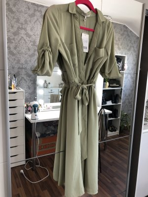 Shirtwaist dress sage green-khaki