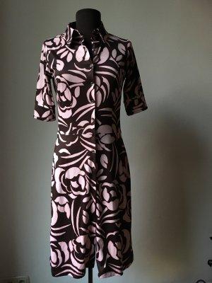 Kleid mit 3/4 Ärmel in braun rosa