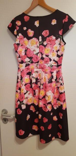 Bodyflirt A-lijn jurk zwart-roze