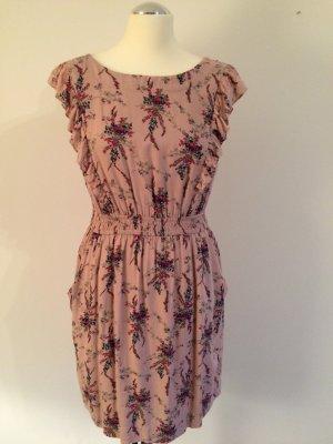 Kleid mit Blümchen von ESPRIT mit Volant